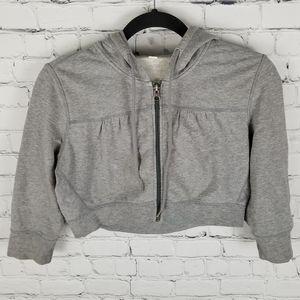 LULULEMON | cropped 3/4 sleeve zip hoodie jacket